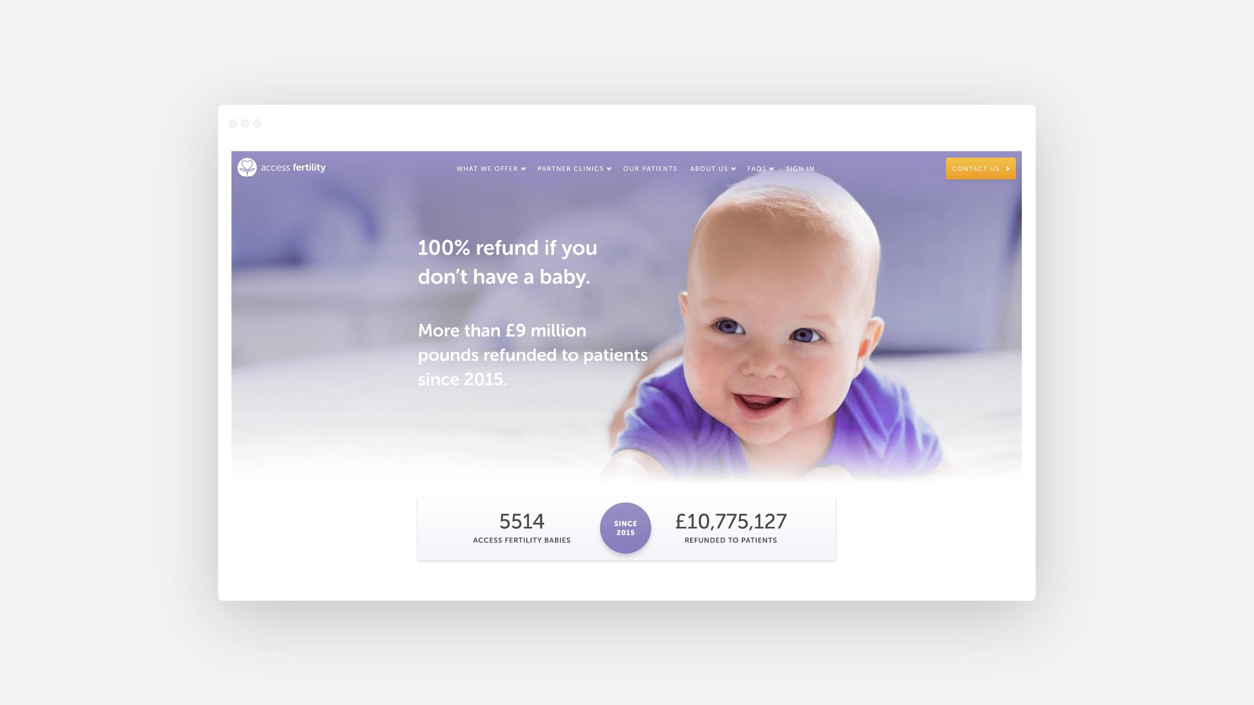 Access fertility web design