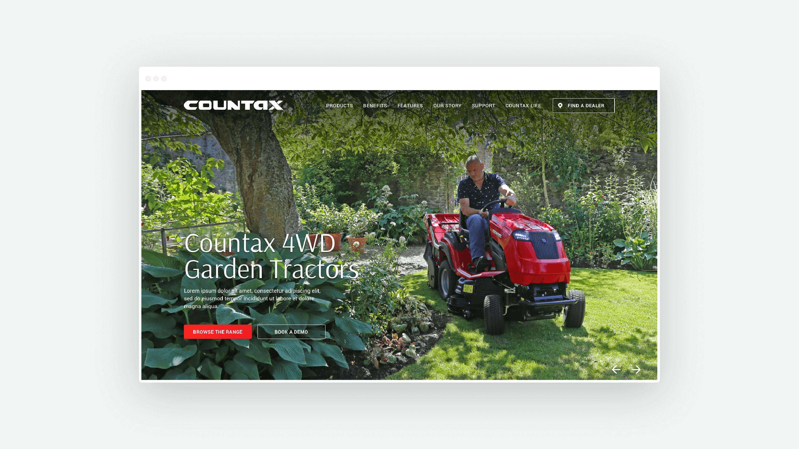 Countax website design
