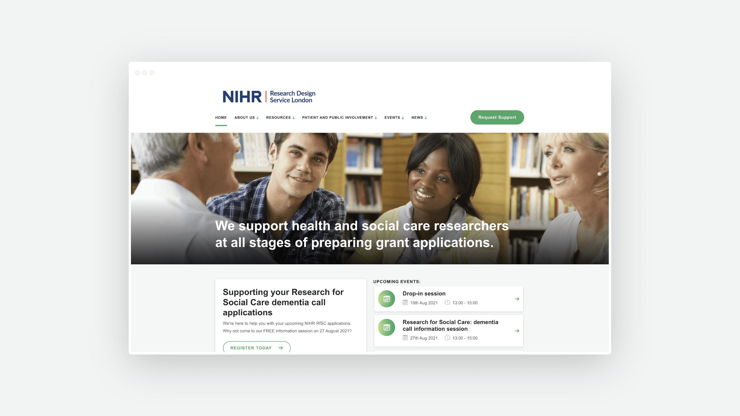 NIHR Web Design