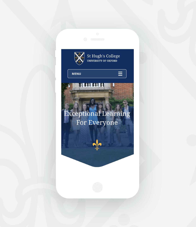 St Hugh's web design Oxford